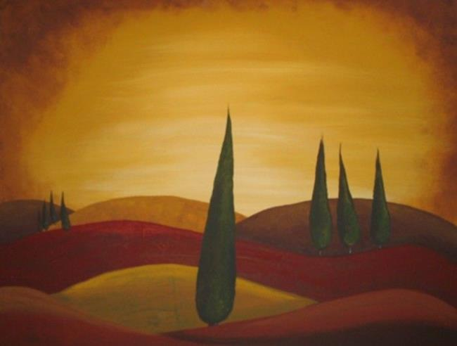 Art: Tuscan Sunset-NLA by Artist Charlene Murray Zatloukal