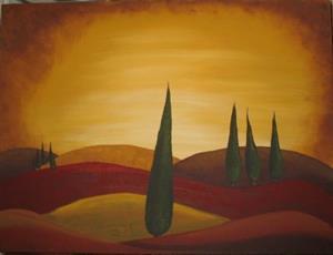 Detail Image for art Tuscan Sunset-NLA