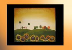 Art: TUSCAN SUNFLOWERS-sold by Artist Charlene Murray Zatloukal