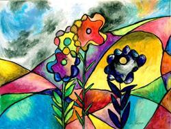 Art: The Edgar Allan Poe Flower by Artist Chris Jeanguenat