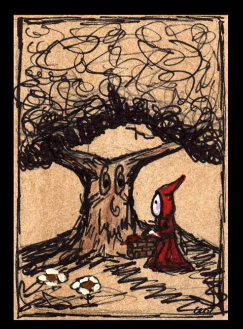 Art: Little Red Riding Poppet--sold by Artist Charlene Murray Zatloukal