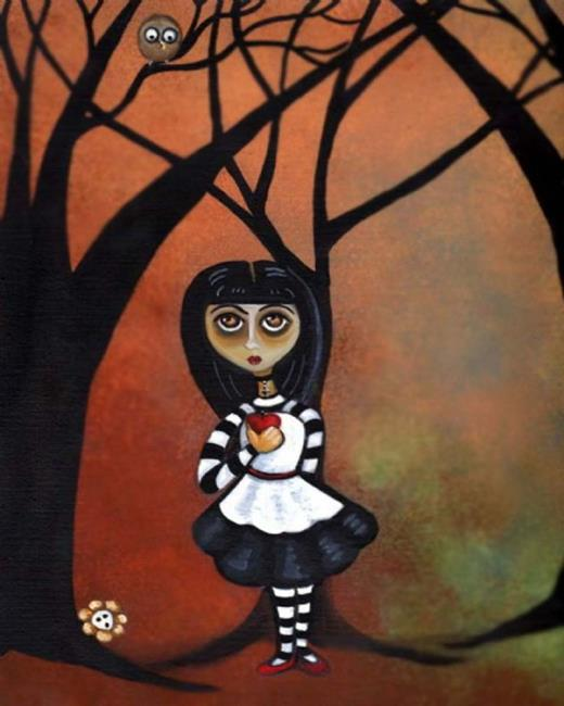 Art: Poison Apple by Artist Charlene Murray Zatloukal