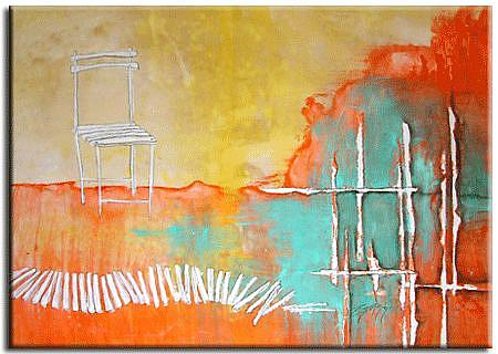 Art: Holding Back The Chairs by Artist Jenny Berry