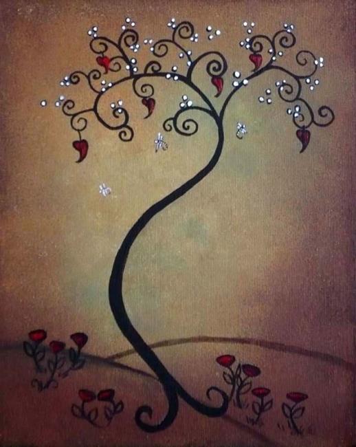 Art: Whimsical Tree by Artist Charlene Murray Zatloukal