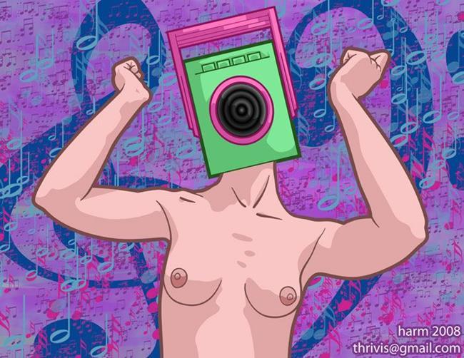 Art: I am a Radio by Artist Erika