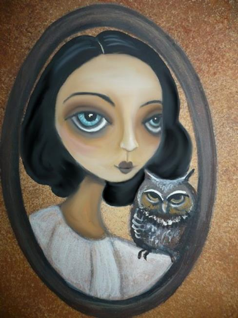 Art: The Lady and The Owl by Artist Charlene Murray Zatloukal