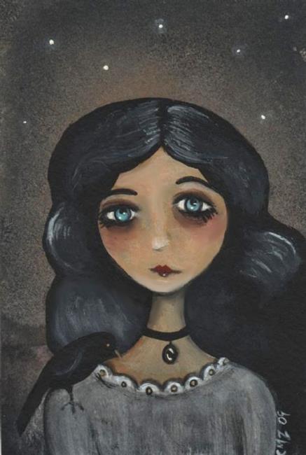 Art: Annalea and the Raven by Artist Charlene Murray Zatloukal