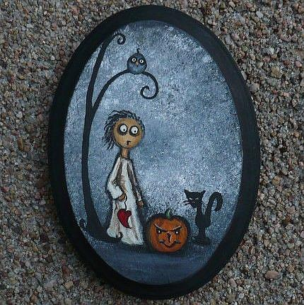 Art: Evil Pumpkin by Artist Charlene Murray Zatloukal