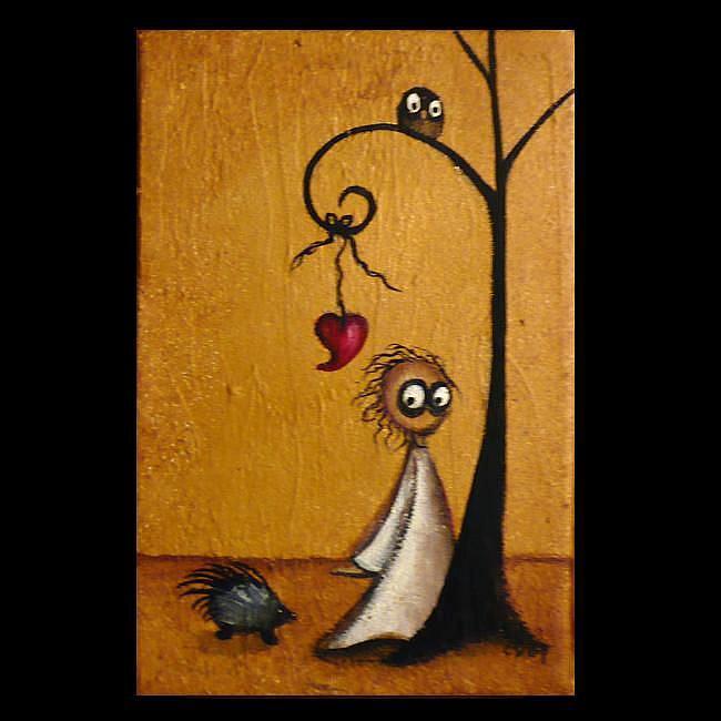Art: I Want To Be Alone by Artist Charlene Murray Zatloukal