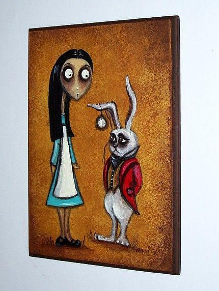 Art: Alice and The White Rabbit by Artist Charlene Murray Zatloukal