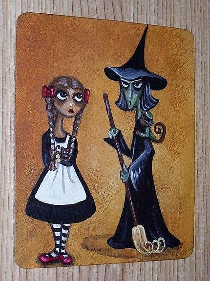 Art: Dorothy and Elphaba by Artist Charlene Murray Zatloukal