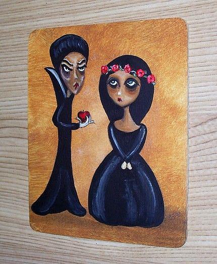 Art: Snow White and the Evil Queen by Artist Charlene Murray Zatloukal