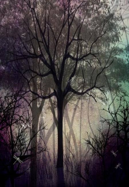 Art: Twilight Forest by Artist Charlene Murray Zatloukal