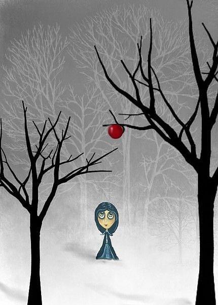 Art: Apple In Winter by Artist Charlene Murray Zatloukal