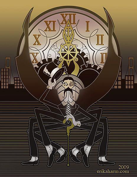 Art: Clockspider by Artist Erika