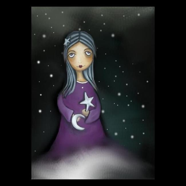 Art: Moon and Stars by Artist Charlene Murray Zatloukal