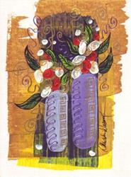 Art: Tiny Floral #14 by Artist Christine Wasankari