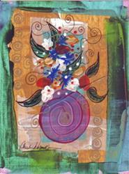 Art: Tiny Floral #18 by Artist Christine Wasankari