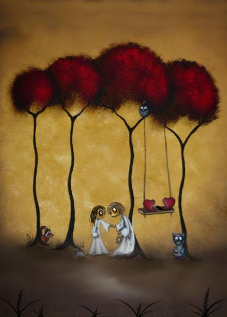 Art: Two Hearts by Artist Charlene Murray Zatloukal