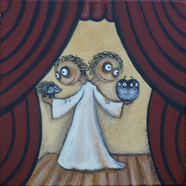 Art: Conjoined Twins by Artist Charlene Murray Zatloukal