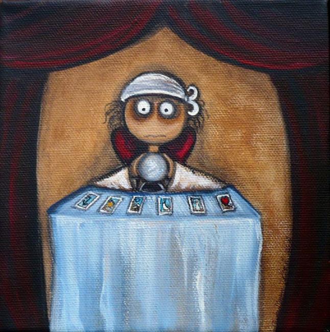 Art: Fortune Teller by Artist Charlene Murray Zatloukal