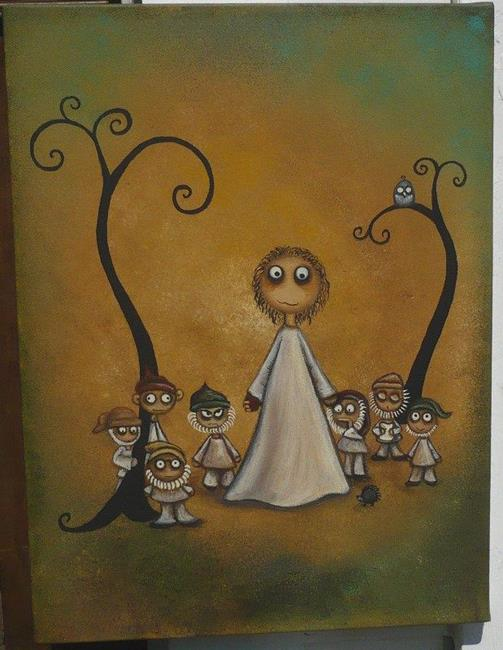 Art: Snow White and the Seven Dwarfs by Artist Charlene Murray Zatloukal