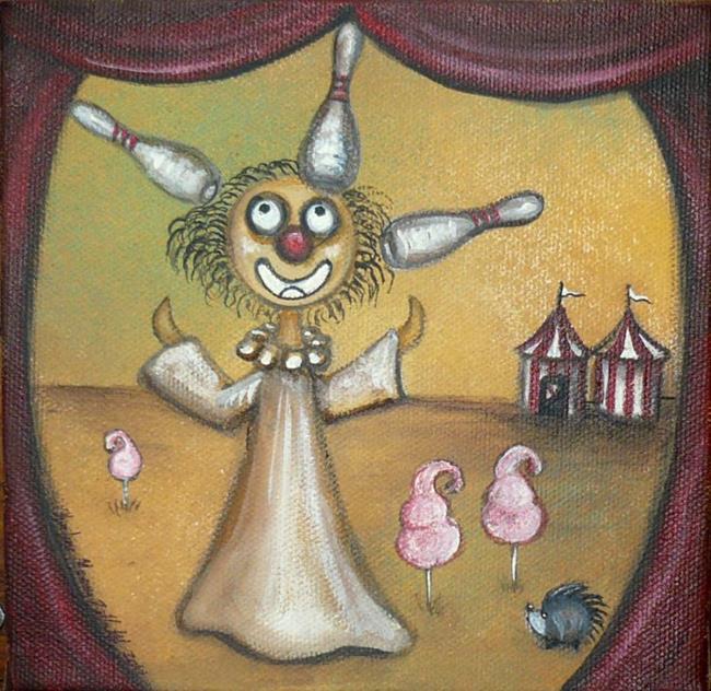 Art: Creeper Clown by Artist Charlene Murray Zatloukal