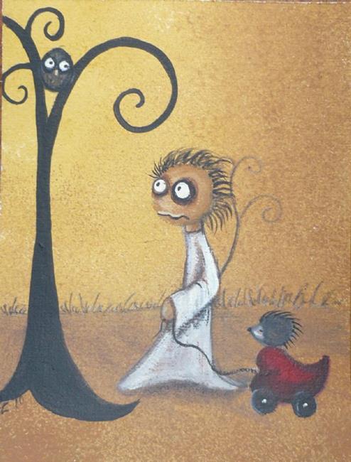 Art: A Ride on the Love Wagon by Artist Charlene Murray Zatloukal