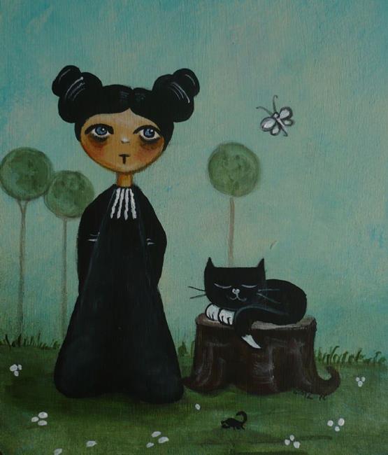 Art: Melanthe and Mister Mistoffelees by Artist Charlene Murray Zatloukal