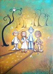 Art: Follow the Yellow Brick Road by Artist Charlene Murray Zatloukal