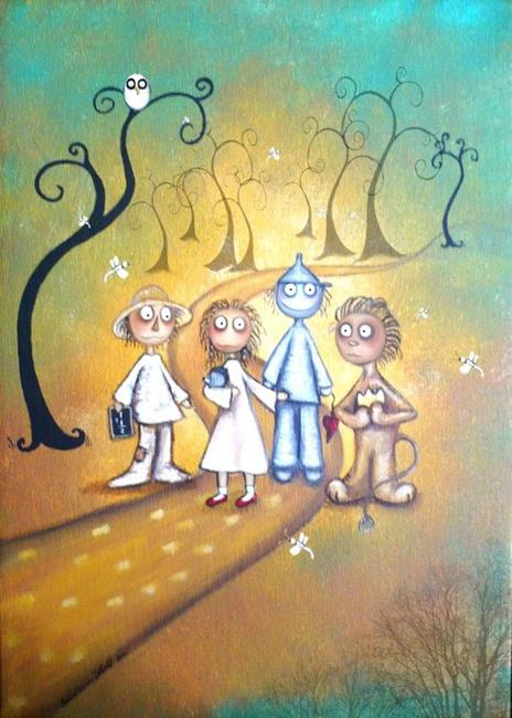 Art: Follow the Yellow Brick Road by Artist Charlene Murray Zatloukal
