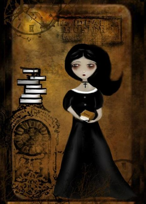 Art: Steampunk Bibliophile by Artist Charlene Murray Zatloukal