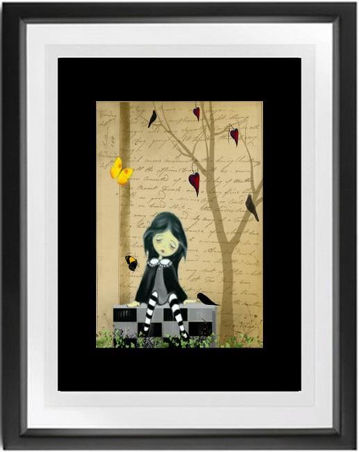 Art: She Hearts Butterflies and Blackbirds by Artist Charlene Murray Zatloukal