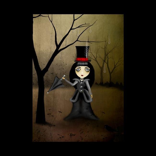 Art: Gothik Virtues - Temperance by Artist Charlene Murray Zatloukal
