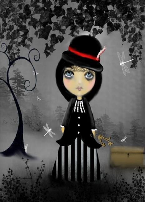 Art: Gothik Virtues - Chastity by Artist Charlene Murray Zatloukal