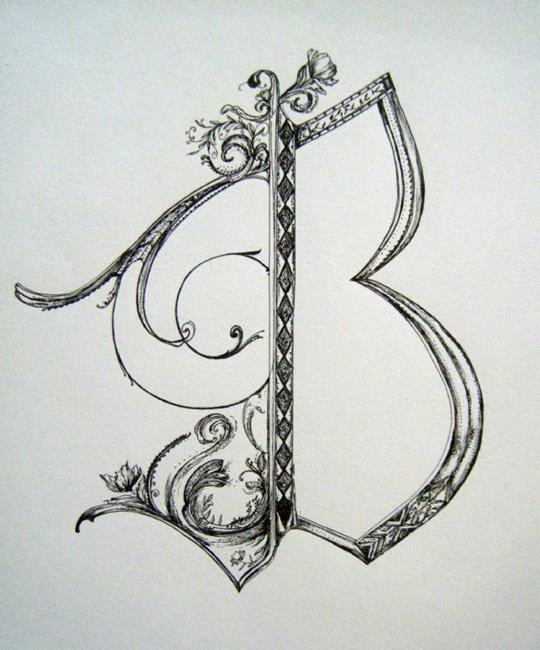 Art: Letter B by Artist Chris Jeanguenat