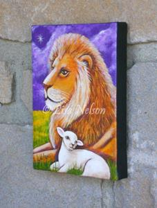 Detail Image for art The Lion and the Lamb Painting