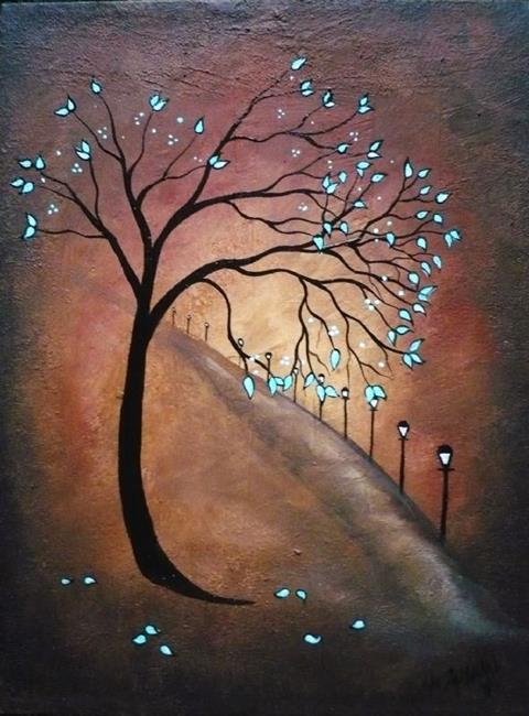Art: On the Lonely Road by Artist Charlene Murray Zatloukal