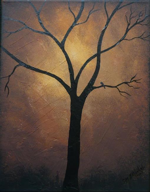 Art: Sunset Silhouette by Artist Charlene Murray Zatloukal