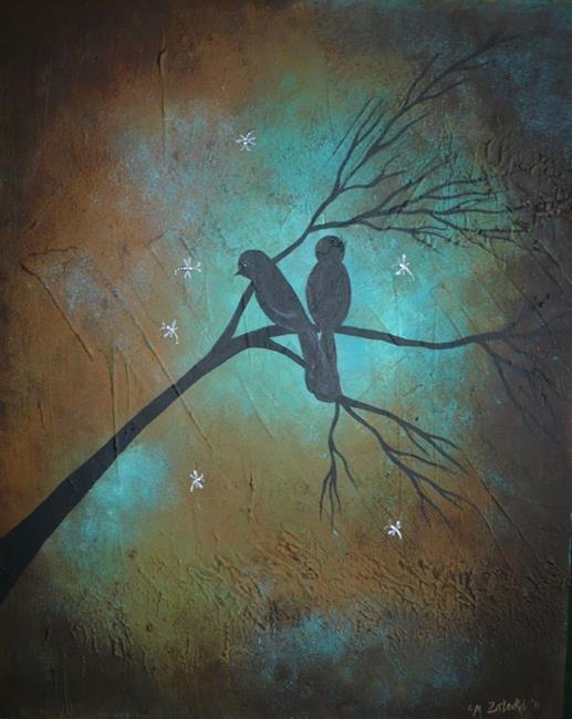 Art: Blackbirds and Dragonflies by Artist Charlene Murray Zatloukal