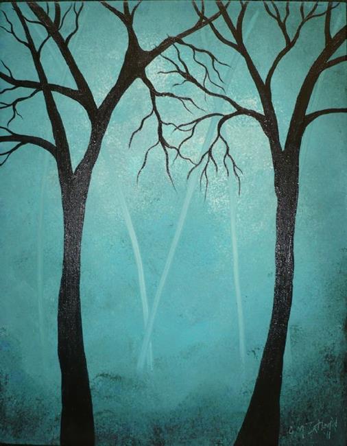 Art: Dark Sentinels by Artist Charlene Murray Zatloukal