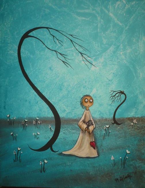 Art: Blue on Blue by Artist Charlene Murray Zatloukal