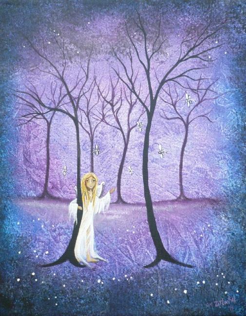 Art: Woodland Fairy by Artist Charlene Murray Zatloukal
