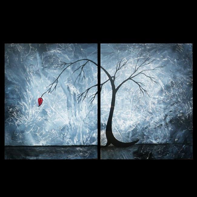Art: red leaf by Artist Charlene Murray Zatloukal