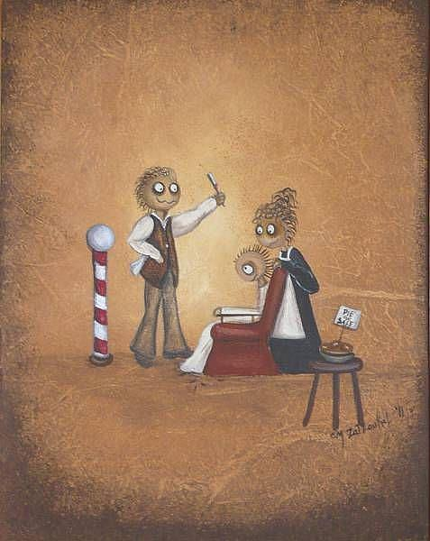 Art: Sweeney Todd by Artist Charlene Murray Zatloukal