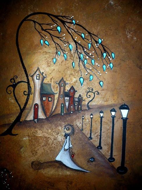 Art: Creeper Village by Artist Charlene Murray Zatloukal