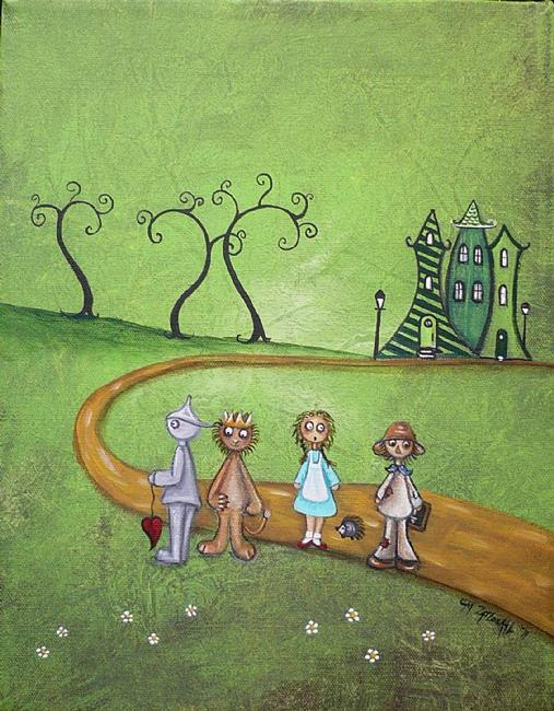 Art: Emerald City - Wizard of Oz by Artist Charlene Murray Zatloukal