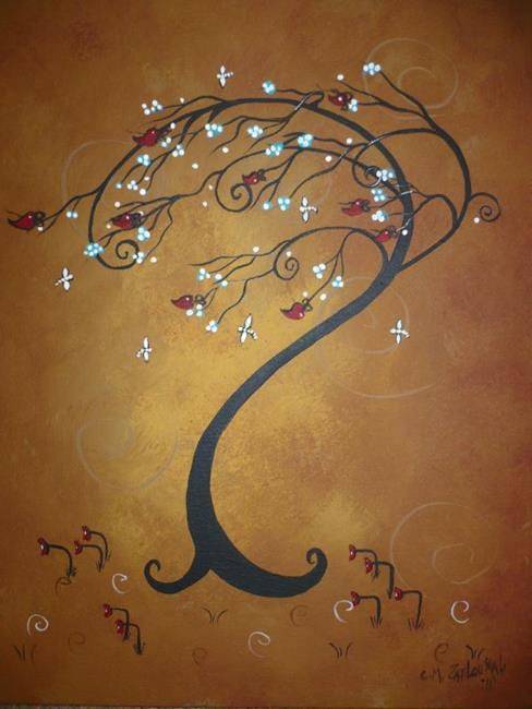 Art: Windswept Again by Artist Charlene Murray Zatloukal