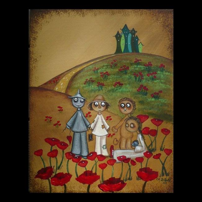 Art: dorothy in poppies - wizard of oz by Artist Charlene Murray Zatloukal