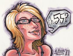 Art: Self Portrait Sh55 by Artist Erika